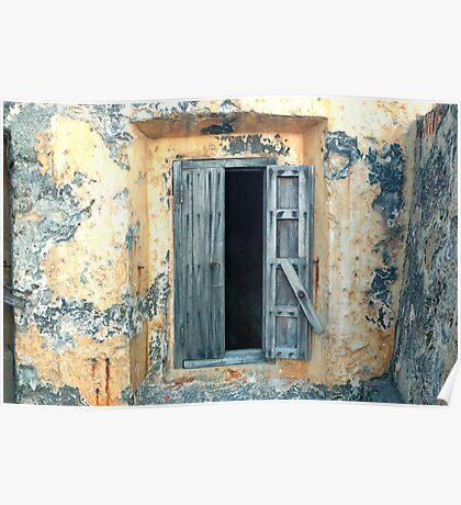 Window, Fort Moro, Old San Juan, Puerto Rico Poster