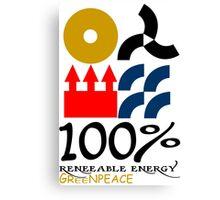100 renewable energy greenpeace Funny geek Nerd Canvas Print