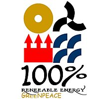 100 renewable energy greenpeace Funny geek Nerd Photographic Print