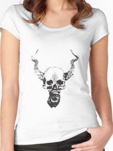 octupus skull Women's Fitted Scoop T-Shirt