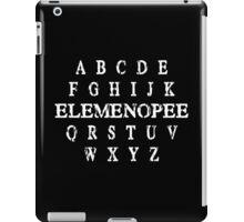 a b c d e f g h i j k elemenopee q r s t u v w x y z Funny Geek Nerd iPad Case/Skin