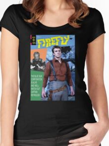 Firefly Vintage Comics Cover Women's Fitted Scoop T-Shirt
