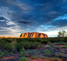 Reworking of Uluru Sunset HDR by Steven Pearce