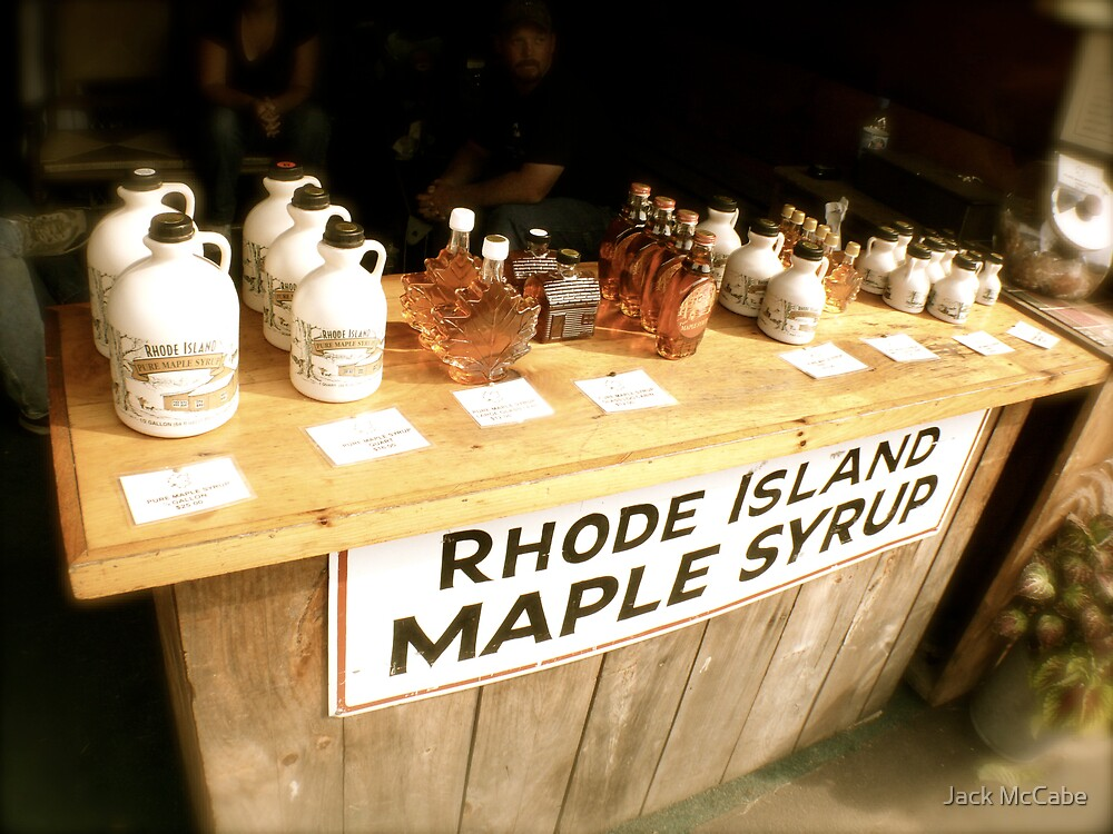 Maple Syrup on the Sales Table | Sepia Series by Jack McCabe