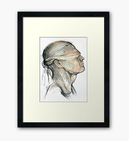 Blindfold Framed Print