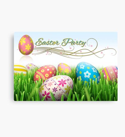 Easter Party Canvas Print