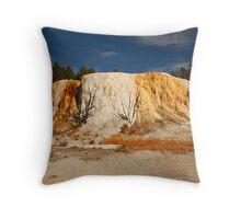 Orange Spring Mound Throw Pillow