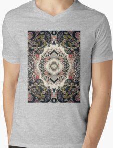 Fractal Typography Mens V-Neck T-Shirt