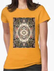 Fractal Typography Womens Fitted T-Shirt