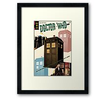 Doctor Who Vintage Comics Cover Framed Print