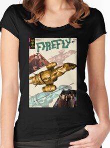 Firefly Vintage Comics Cover (Serenity) Women's Fitted Scoop T-Shirt