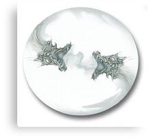 Glass Dragon Bubble Canvas Print