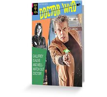 Doctor Who Vintage Comics Cover Greeting Card