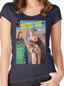 Doctor Who Vintage Comics Cover Women's Fitted Scoop T-Shirt