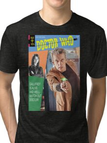 Doctor Who Vintage Comics Cover Tri-blend T-Shirt