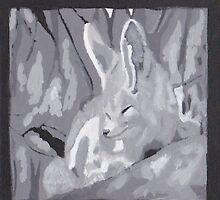 Grey Scale Fennec Fox by SoonieUchiha