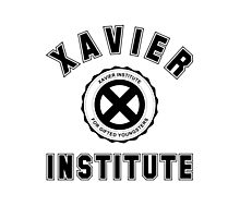 Xavier Institute X-Men Logo Photographic Print