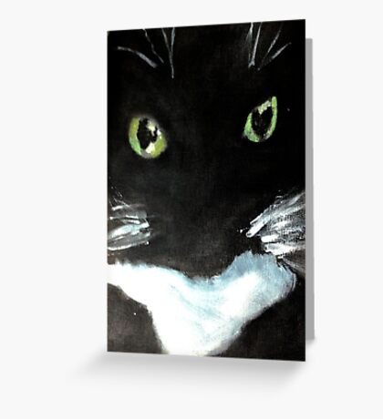 Tuxedo Kitty Greeting Card