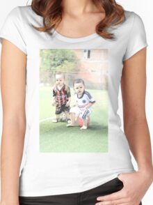 Soccer kids Women's Fitted Scoop T-Shirt