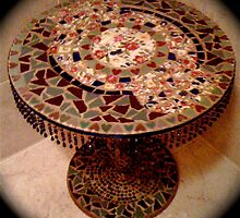 Mosaic side table by Doreen Bell