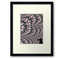 Black Red White Lava Fractal Framed Print