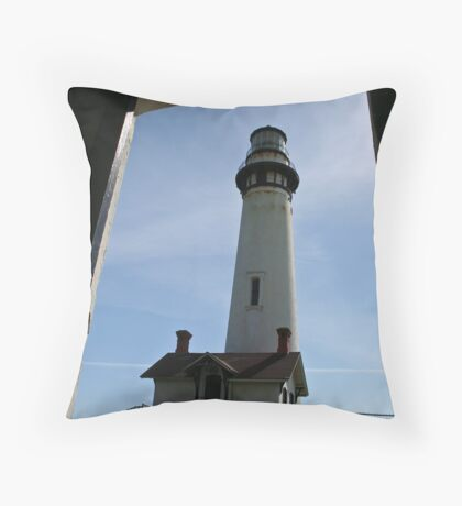 Lighthouse viewed from doorway Throw Pillow