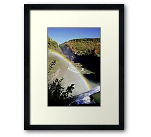 Letchworth Rainbow Framed Print