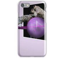 White tigers Escape iPhone Case/Skin