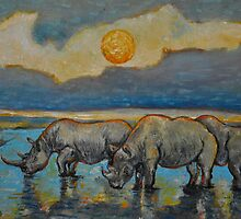 'Sunset in Tanzania' by Vincent von Frese