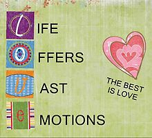 Love Offers Vast Emotions CARD  by librapat