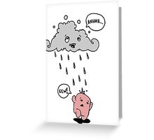 Cloud Pee. Greeting Card