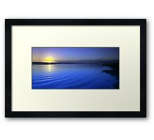 Last light on Goolwa Beach Framed Print