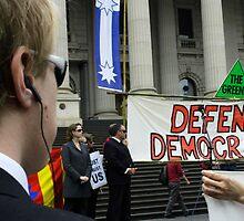 Defend Democracy by Marie Watt