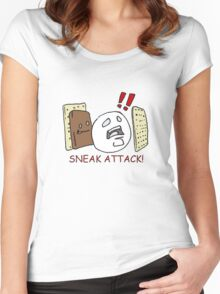 Sneak Attack! Women's Fitted Scoop T-Shirt