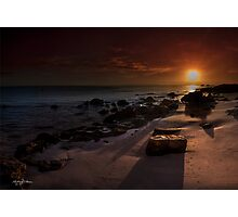 Sand Tracks at Sunrise Photographic Print
