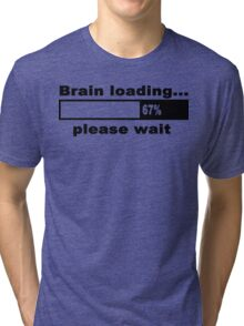 Brain loading plese wait Funny Geek Nerd Tri-blend T-Shirt