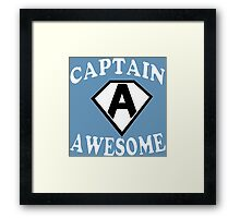 Captain awesome Funny Geek Nerd Framed Print