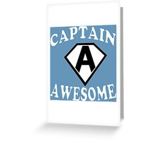 Captain awesome Funny Geek Nerd Greeting Card