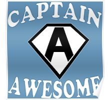 Captain awesome Funny Geek Nerd Poster