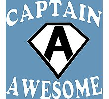 Captain awesome Funny Geek Nerd Photographic Print
