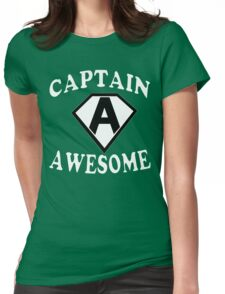 Captain awesome Funny Geek Nerd Womens Fitted T-Shirt