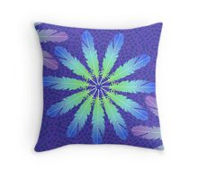 Floral Feathering Throw Pillow