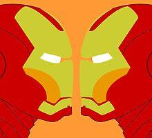 Iron Man Rorschach by OffRedEye