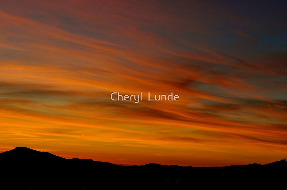 Desert Sunset by Cheryl  Lunde