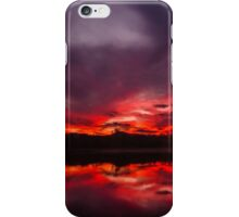 Fire and Water - Sunset at Regatta Waters Lake, Gold Coast iPhone Case/Skin