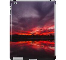Fire and Water - Sunset at Regatta Waters Lake, Gold Coast iPad Case/Skin