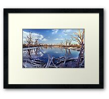 Lyrup Flats Log Jam Framed Print