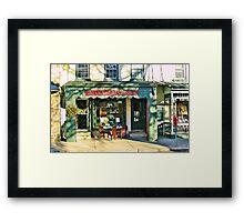 Country Charm  ( Lambertville Village  Storefront ) Framed Print