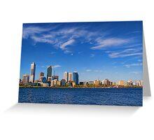 Perth City - Cityscape 2009 Greeting Card