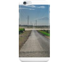 Dusty Road out in rural Queensland iPhone Case/Skin